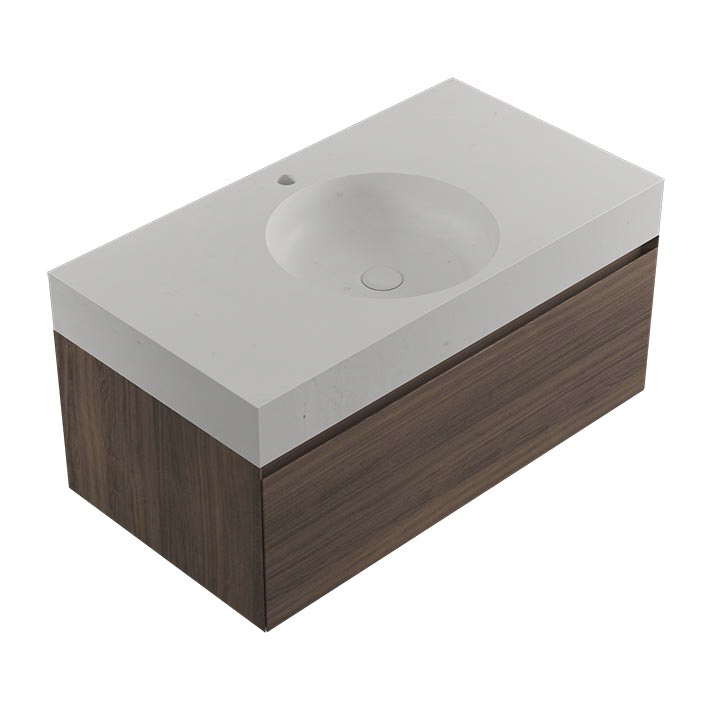 KARON CIRCLE COUNTERTOP PERSIAN WHITE-INTENSE