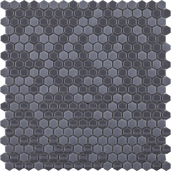 GLAZE MINI HEXAGON GREY