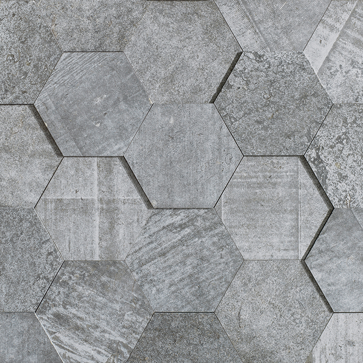 AMSTERDAM 3D HEXAGON GREY BPT