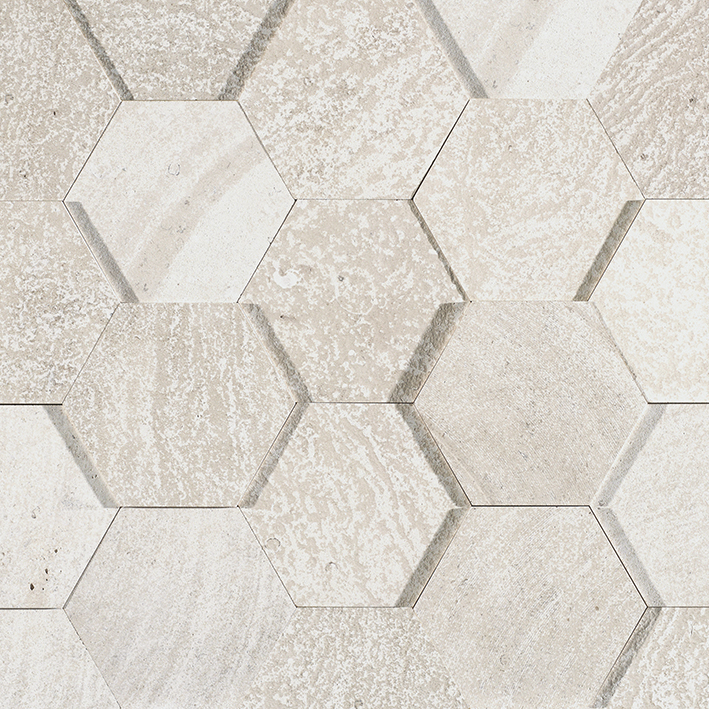 AMSTERDAM 3D HEXAGON BEIGE