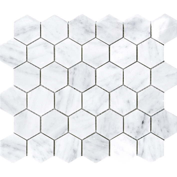 ESSENTIAL HEXAGON CARRARA PULIDO