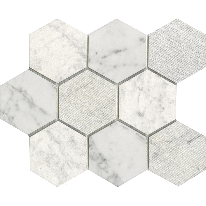 WORLD HEXAGON TEXTURE WHITE