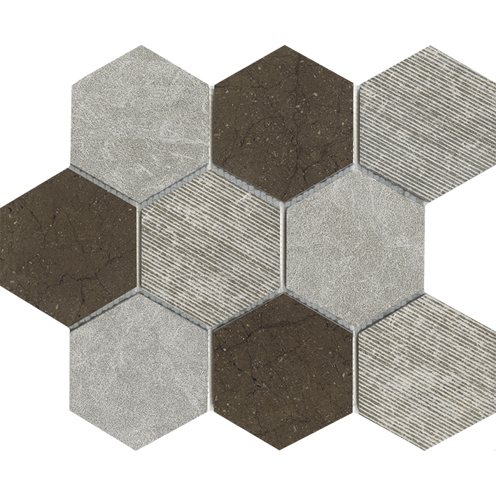 WORLD HEXAGON TEXTURE BROWN