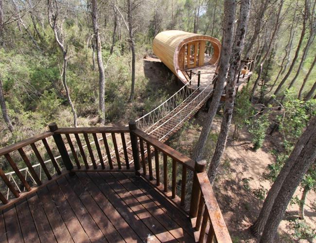 Casa de árbol inspirada en Fobonacci