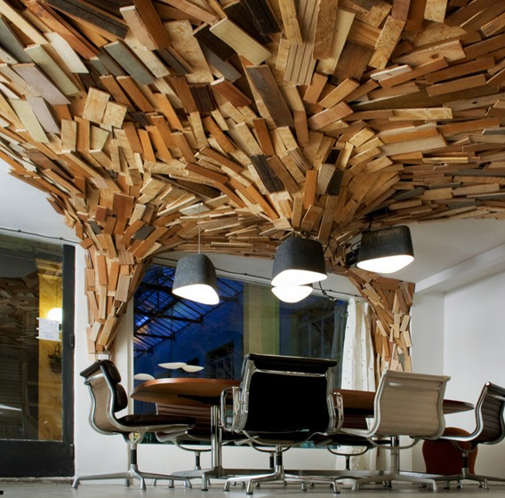 Wood in office design