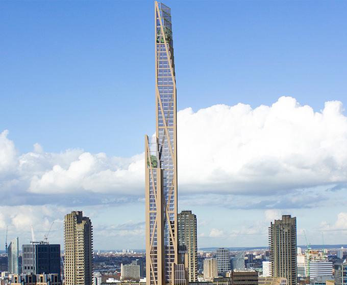 Rascacielos madera Londres