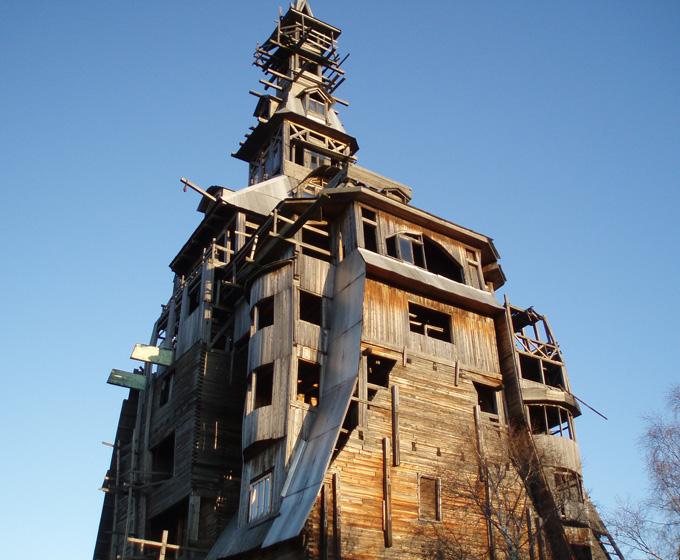 estructura de madera en Rusi