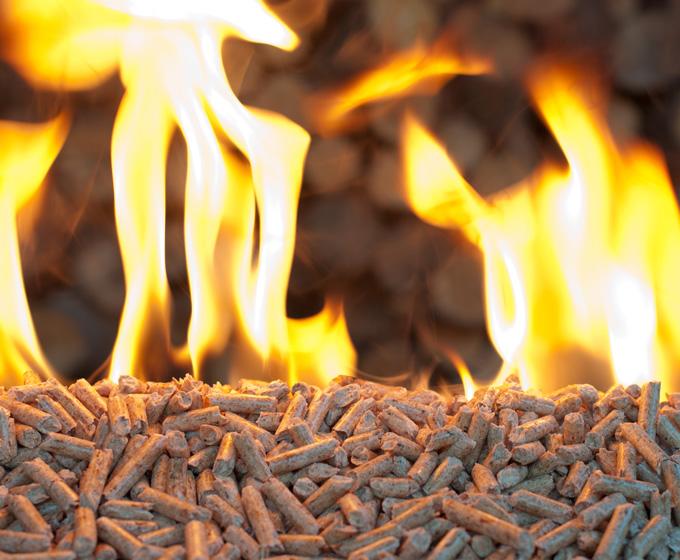 quema de madera