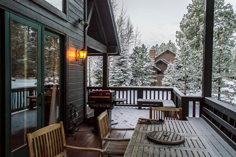 casa de madera en la sierra