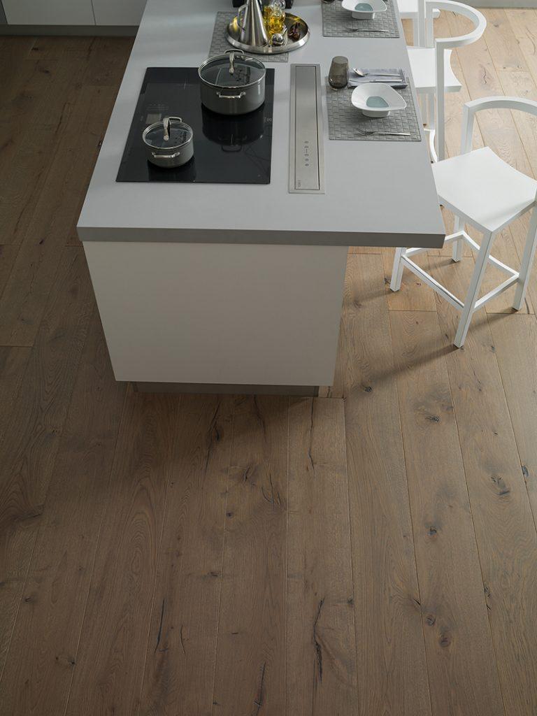 pavimento de madera para cocina