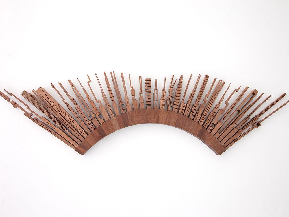 madera tallada como decoración