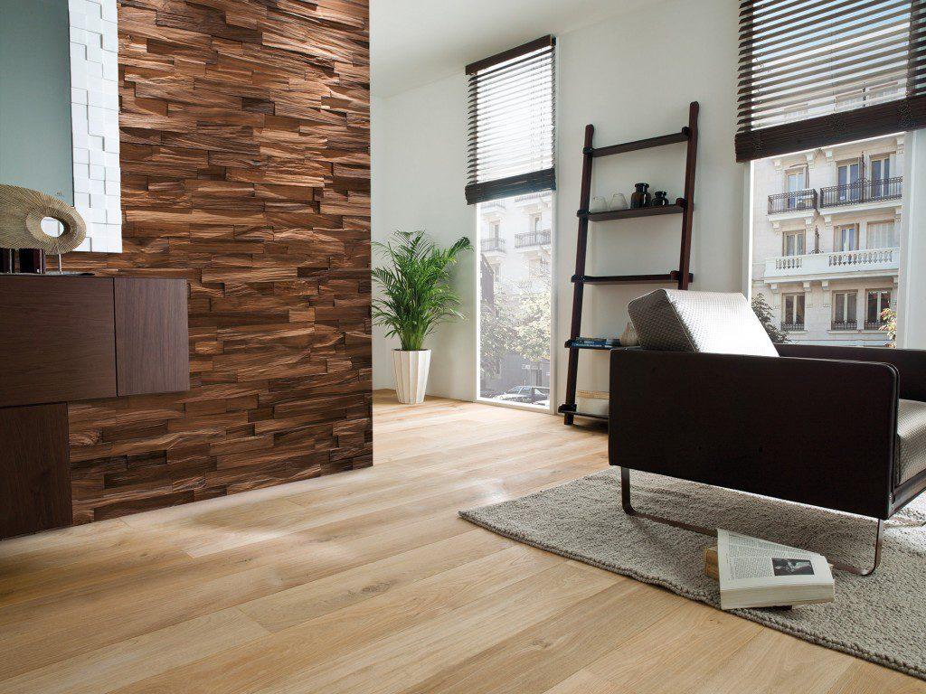 Mosaico de madera natural