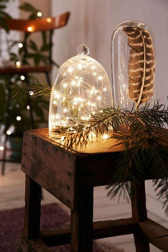 decoración navideña con madera