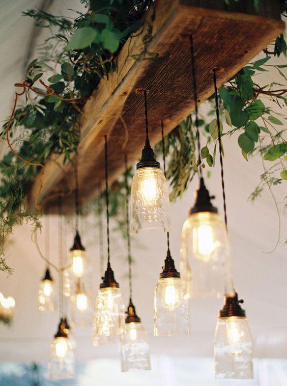 decoracion troncos madera