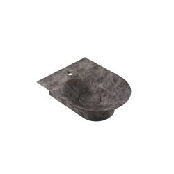 STONE BASIN WALL MOUNTED 400 CAPUCCINO GREY