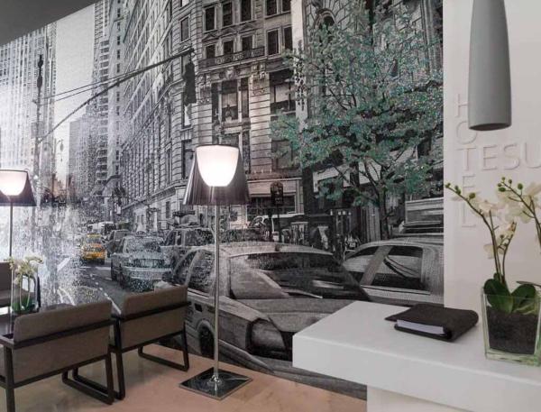 Mosaico Personalizado Taxis Recepcion Hotel