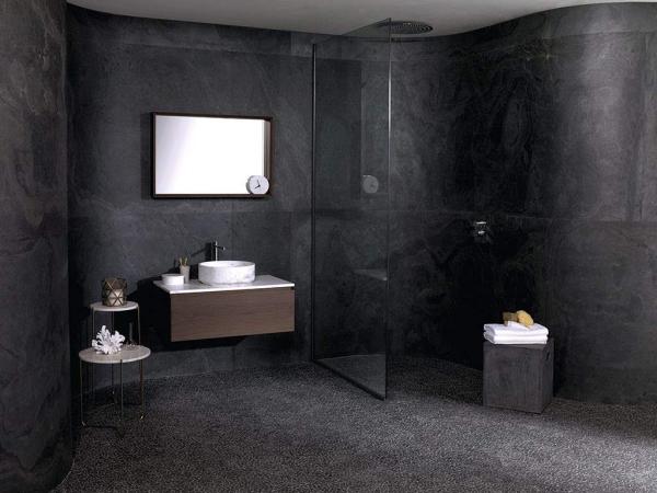 Airslate Graphite – Mosaico Paradise Tinybroken Edge Negro – Conjunto Karon Circle Persian White Intense Tower Mirror