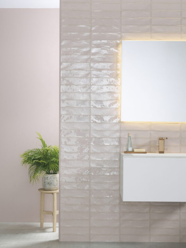 Cerámica Touch Linen – Linkfloor Oak White – Lavabo Minim Wood – Minim Espejo