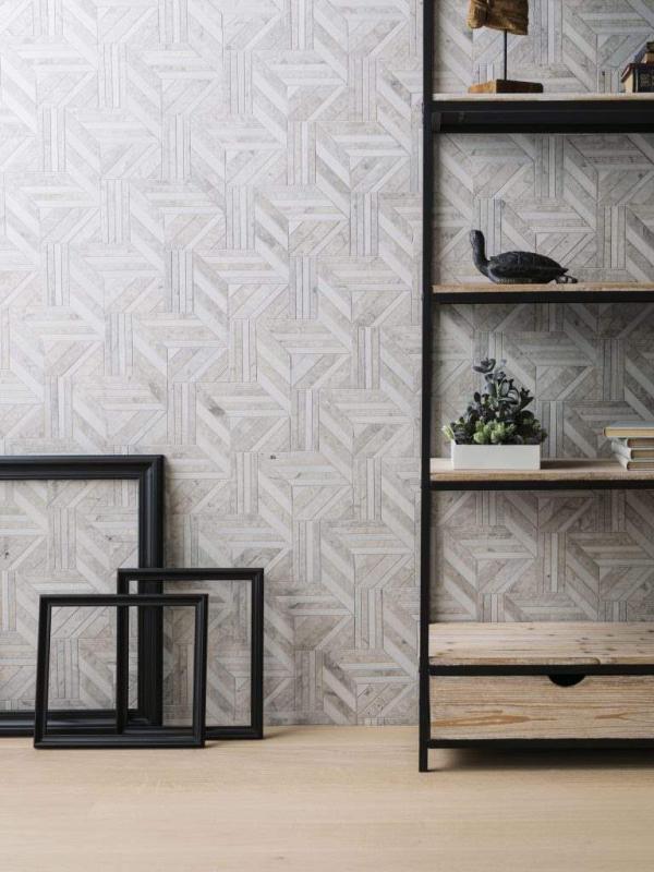 Mosaico Form Abstract Cream – Madera Natural Nature 1l Natural