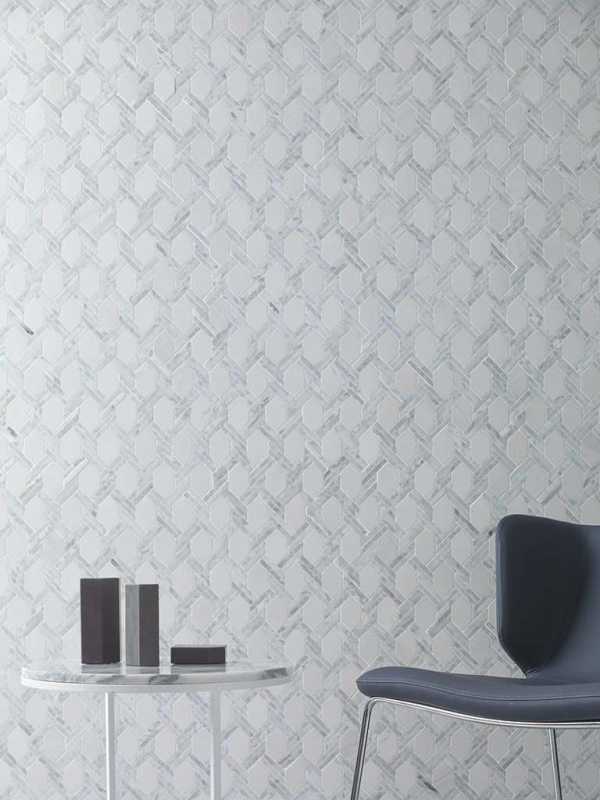 Mosaico Essential Net Carrara