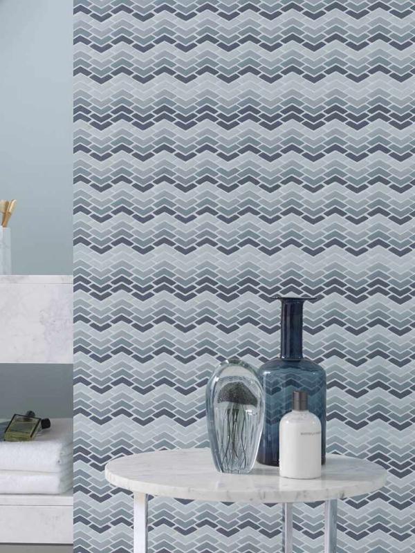 Mosaico Glaze Wave Blue