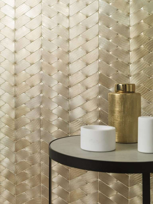 Mosaico Gravity Aluminium Trace Gold