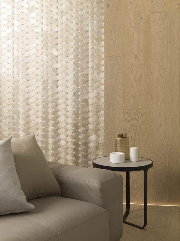 Mosaico Gravity Aluminium Trace Gold – Madera Natural Authentic 1l Pure