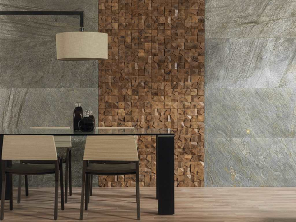Piedra Natural Airslate Delhi – Mosaico Wood Cubes – Laminado Quercus 1l Natural