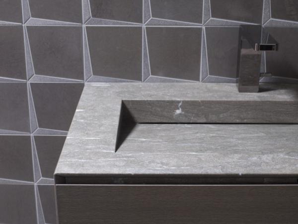Mosaico Form Spark Brown – Lavabo Minim Wood Grey Stone