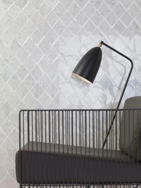 Mosaico Victorian Rhombus Carrara Aluminium