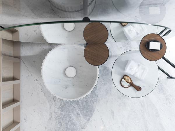 Lavabo Set Column Neve Di Carrara Black Americano – Lavabo Column Structure Neve Di Carrara Black Nogal Americano