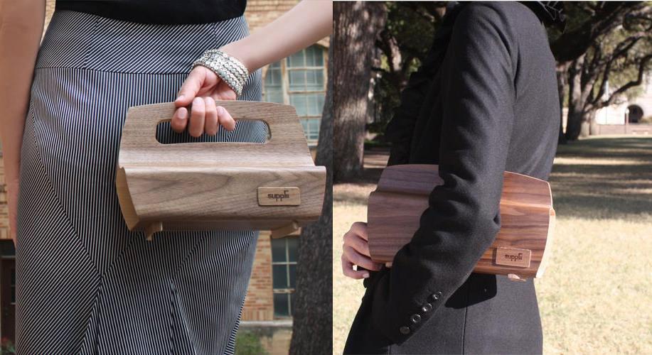 Handbags Suplii: el primer bolso de madera