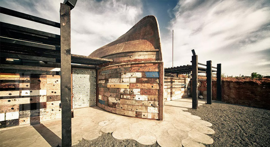 Wine making facility made from recycled boats, by Claudia Turrent + Alejandro D'Acosta Arquitectos