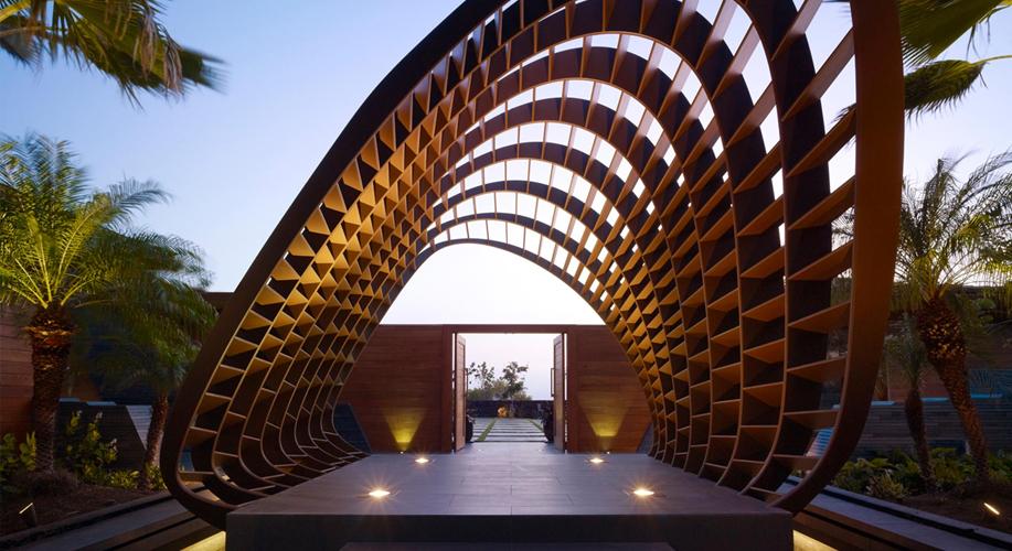 Una moderna vivienda basada en la tradición hawaina
