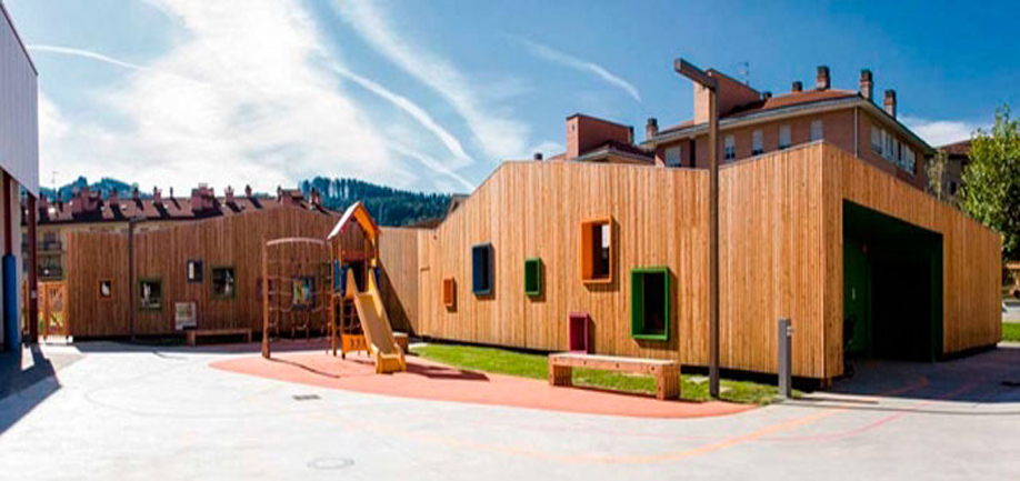 Wooden nursery school in Zaldibar by Ugari Studio and Hirribarren González Arquitectos