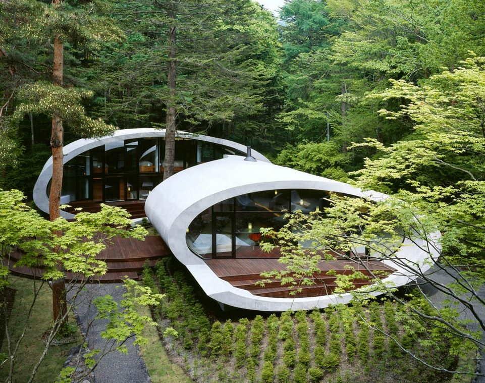 Del mar al bosque con Shell (Japón): una estructura de madera en forma de concha