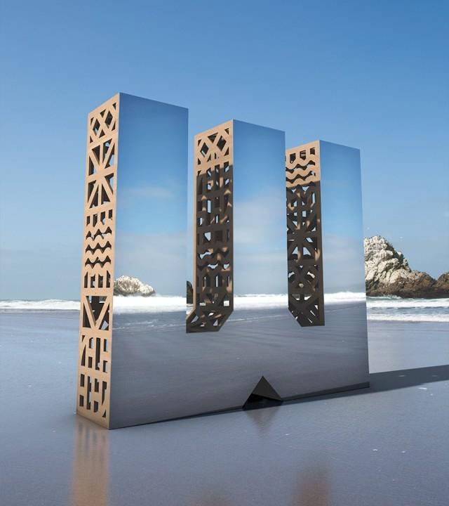 Juego de espejos con Look CLoser. Letras de madera que se funden con el entorno