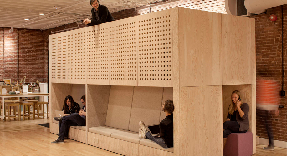 The use of wood in office design