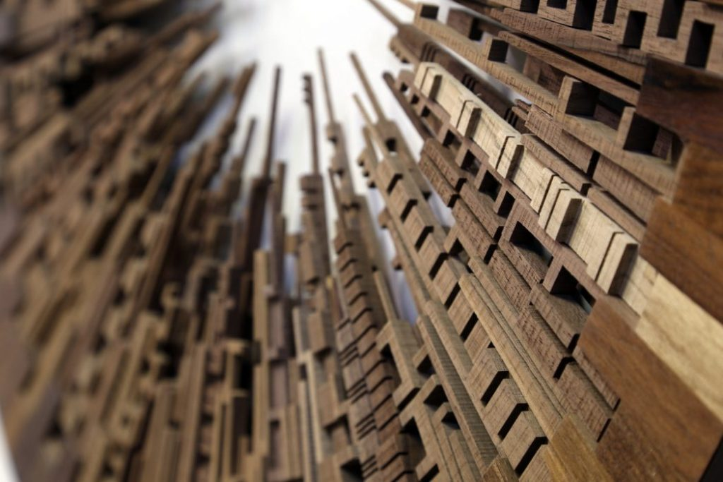 Unique skylines out of natural wood