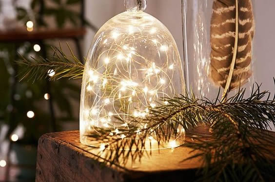 Christmas decor in wood