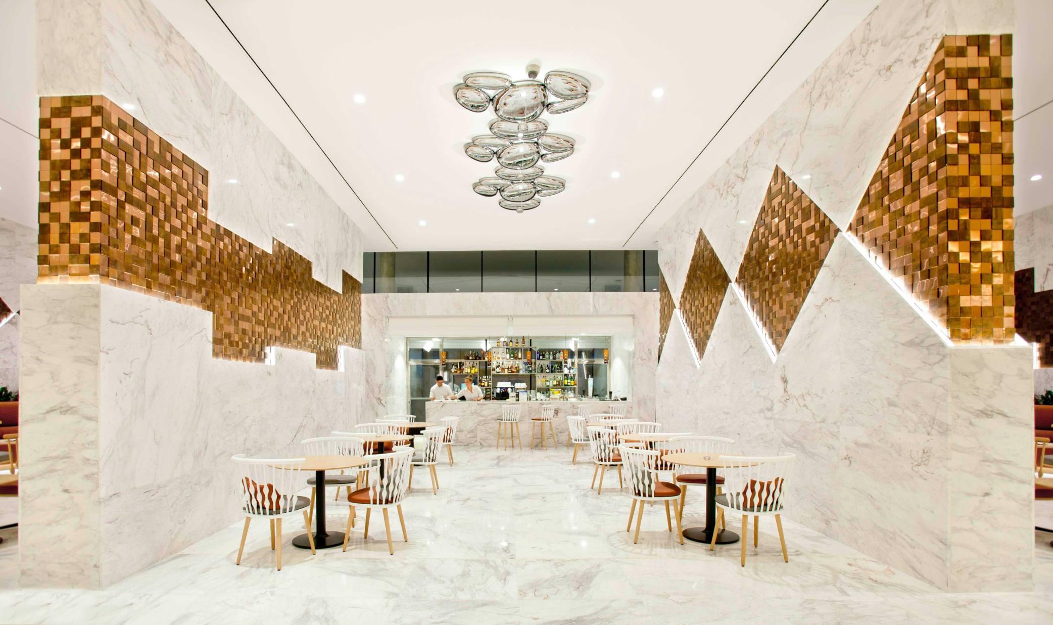 Design e decora o com materiais naturais no novo hotel for Diseno de lobby de hoteles