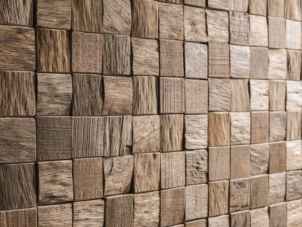 Natural wood mosaics, the perfect decoration for the home