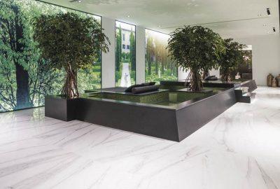 Idées et décorations du fond de la piscine en mosaïque