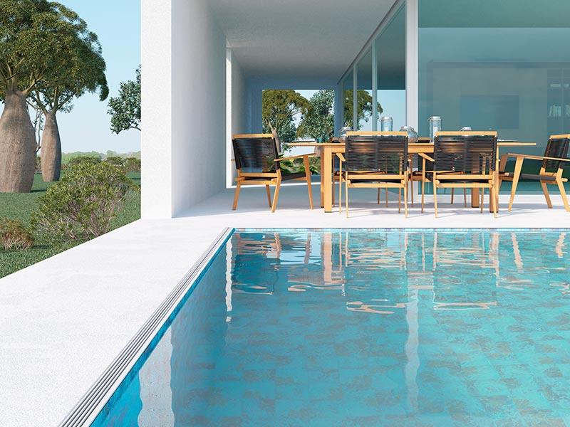 Cómo elegir el mejor suelo para rodear una piscina