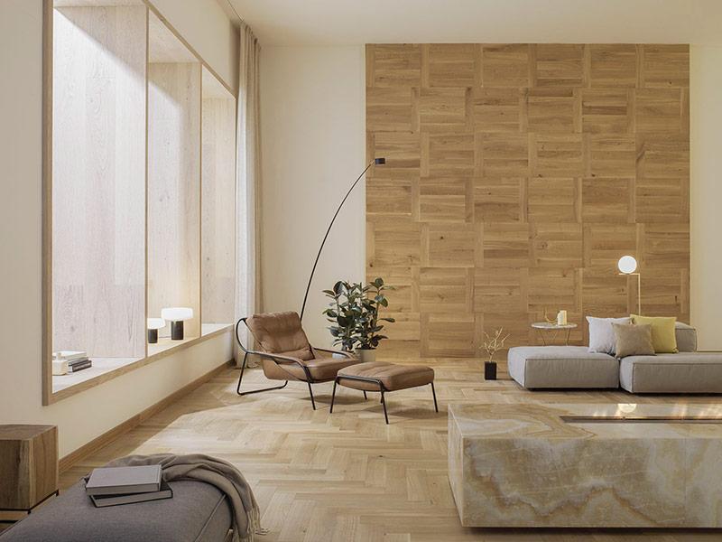 Vinyl flooring in the living room: the best idea